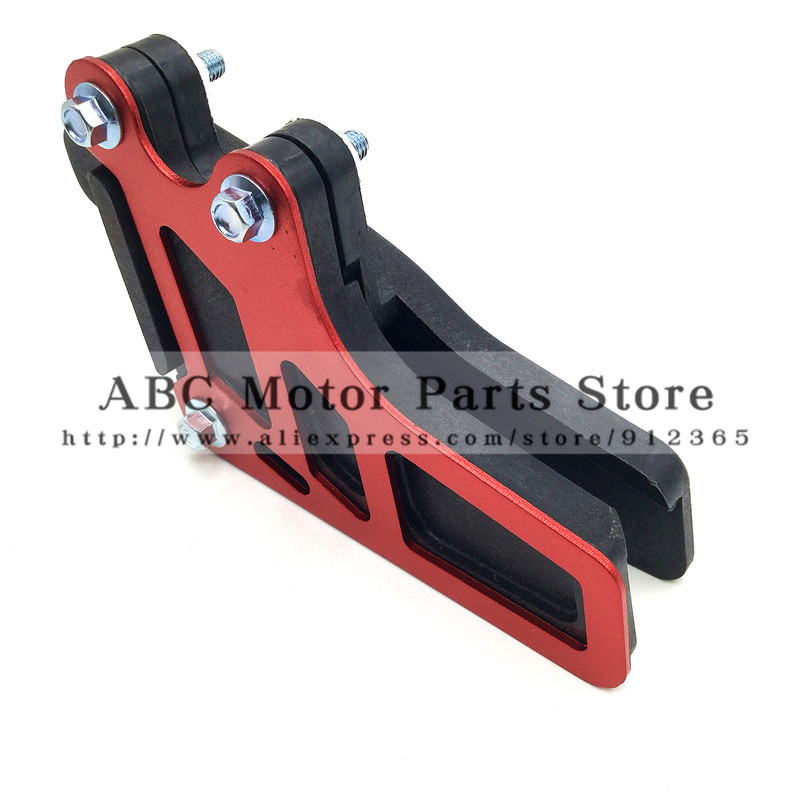NEW 420 428 520 Chain Guide Guard KAYO T2 T4 T6 X6 Motorcycle Dirt Pit Bike Motocross Spare Parts Aluminum Alloy Free Shipping yinxiang yx160 engine right side cover clutch shell cap dirt pit bike motocross kayo apollo spare parts