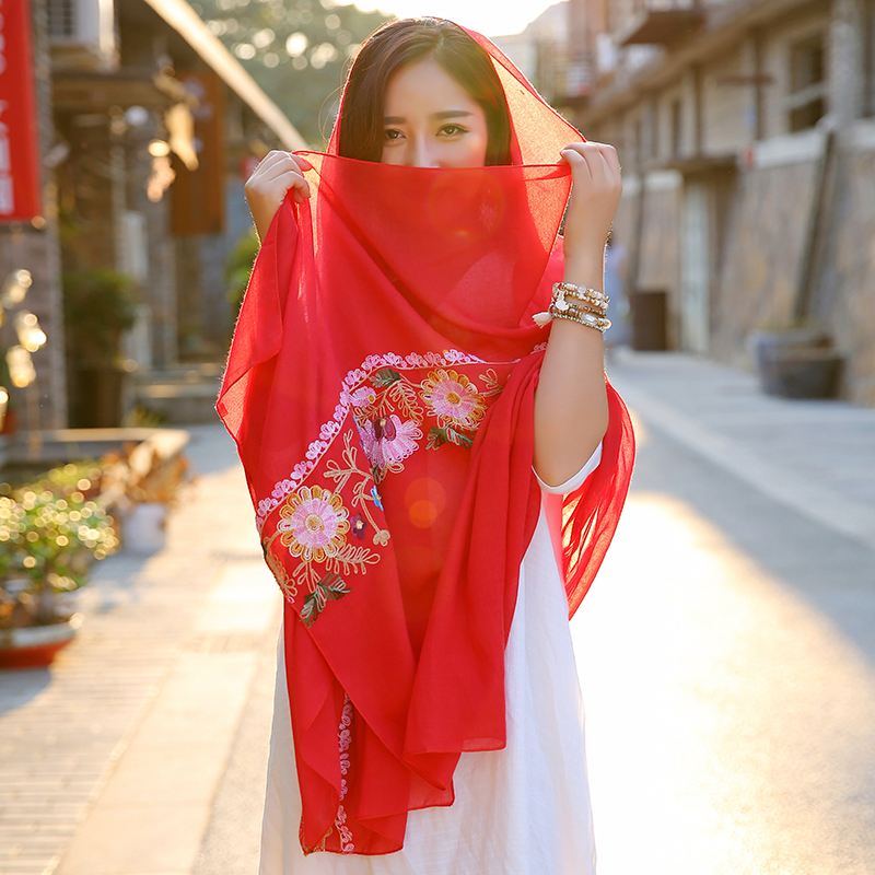 lady foulard embroidered scarf shawl for women from india shawl scarves winter pashmina voile scarf luxury brand 2017 new