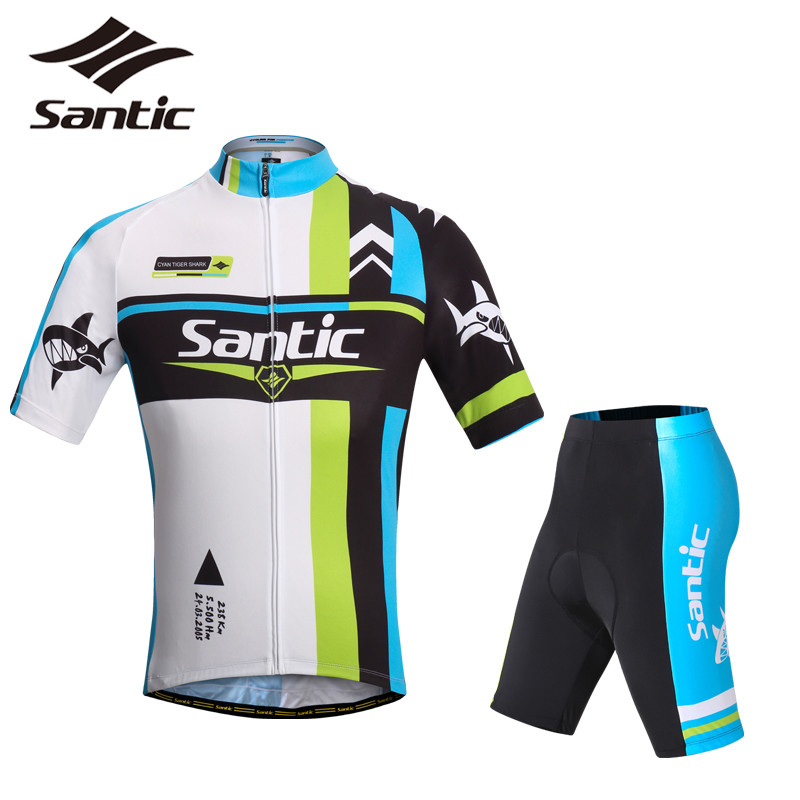 Santic Tour De France Cycling Jersey Men Set PRO MTB Road Bike Bicycle Clothing Set Breathable 4D Pad Conjuntos Ciclismo Team