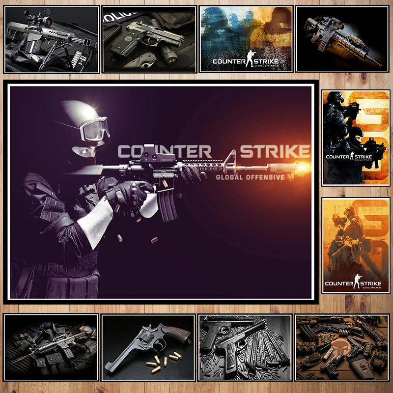 Counter-Strike Coated paper poster Office Gift Room Dining Home Decor wall sticker Design