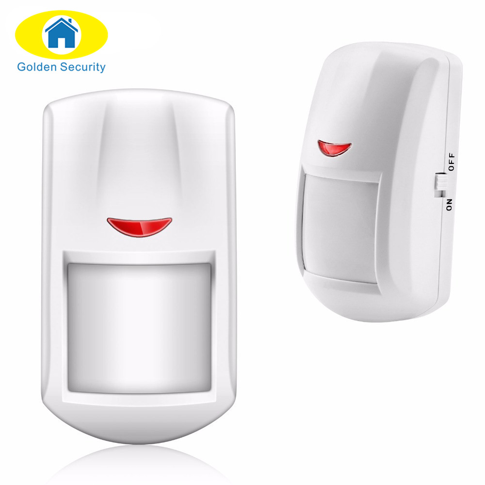 Golden Security Wireless PIR Motion Detector door window Sensor 433MHz For Our Alarm System Free Shipping low voltage motion sensor window door protecting fence beam detector for shop house security