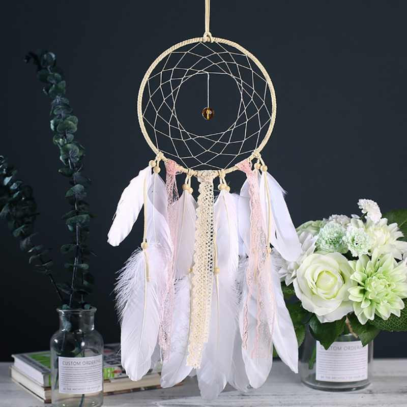 Vintage Dream Catcher Net  Handmade With Feather Gift Dreamcatcher Decoration Ornament Car Hanging Decor Home Hanging Craft