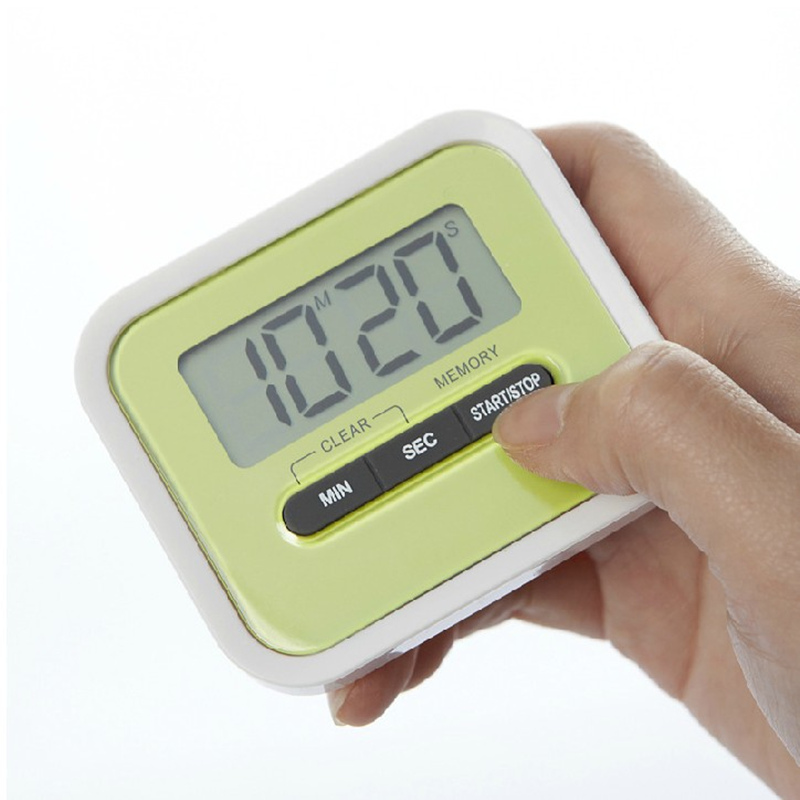 Practical Lovely big screen electronic timer electronic countdown reminder for kitchen gadgets baking BBQ Supplies Pakistan