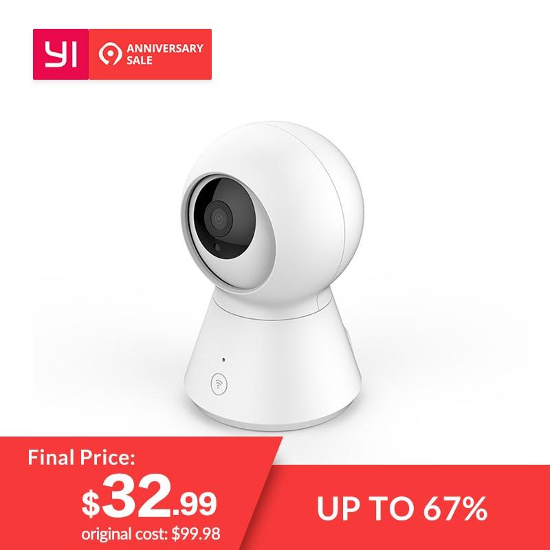 Новая умная купольная камера 1080 p работает на YI Wi-Fi Детский Монитор Cam Pan/Tilt/Zoom Беспроводная ip-камера видеонаблюдения YI Cloud