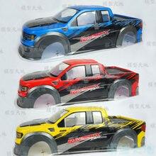 1:10 RC coche Camioneta Monstruo Bigfoot PVC 200MM Raptor amarillo Azul Rojo de plástico del coche de shell para HSP 94108, 94111, 94188