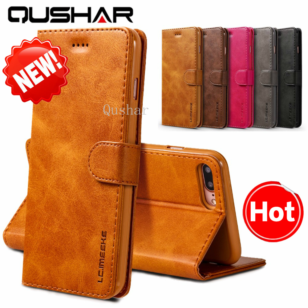 Retro Fundas for iPhone XS Max Xr X 8 7 6s 6 Plus Flip Phone Cas Luxury PU Leather on for iPhone SE 5S 5 Wallet Full Cover Capa