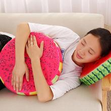 New 3D Summer Fruit PP Cotton Office Chair Back Cushion Sofa Throw Pillow hot sale