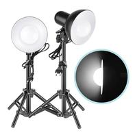 Neewer 2 x 15W LED Light Table Top Photography Studio LED Lighting Kit with Light Stand Tripod for Background Lighting