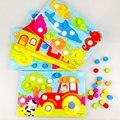 Color Cognición Junta Montessori Juguetes Educativos Para Niños De Madera De Juguete de Aprendizaje Temprano de Color Match Game CL0545H
