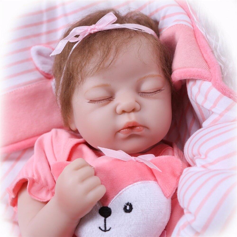 NPK 55 cm 22 pouces reborn bébé poupée en silicone souple vinyle reborn bébé fille poupées bebes reborn bonecas jouer maison jouets cadeau pour les filles-in Poupées from Jeux et loisirs    3