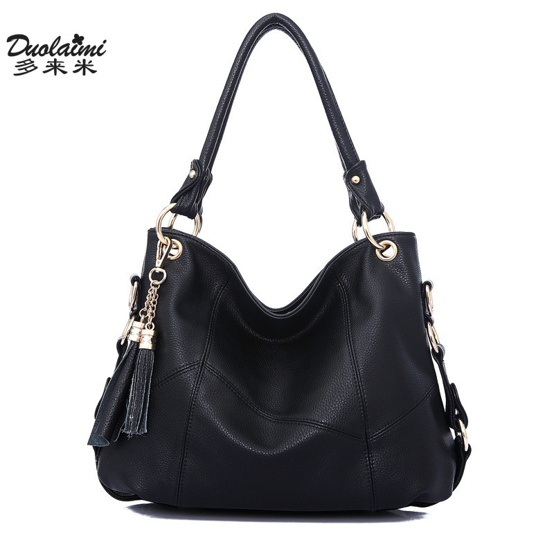 fashion designer women handbags tassel luxury Leather bags large ladies Shoulder bag Female big bag casual tote Crossbody bolsas