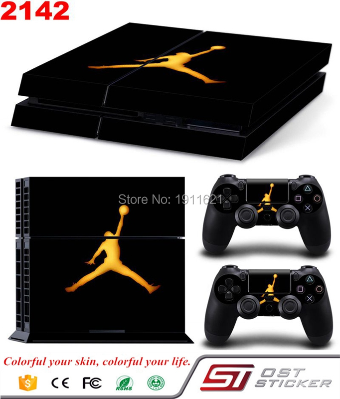 OSTSTICKER Wholesale Skin Decal Cover For PS4 Games PS4 Console + 2pcs Controller Skin Sticker