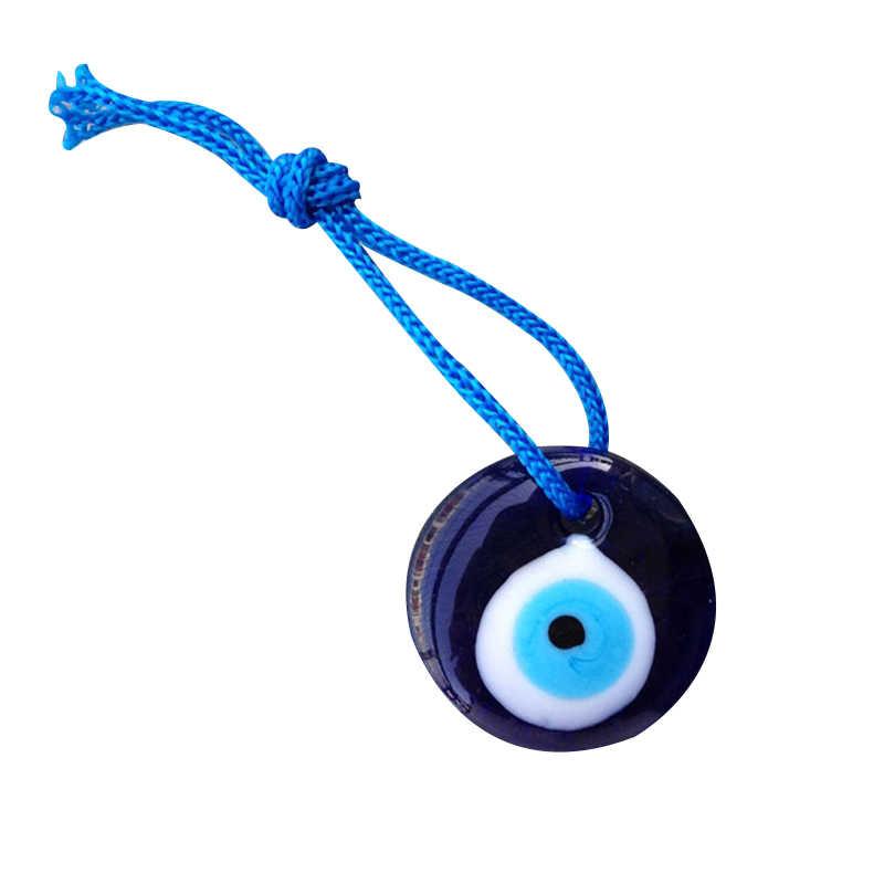 ขายร้อน Lampwork แก้วตุรกี Evil Eye Charm จี้รถบ้าน Amulet ตุรกีเครื่องประดับ TY