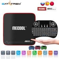 SATXTREM MECOOL M8S PRO W Android 7,1 ТВ Box Amlogic S905W 4 ядра 2 Гб Оперативная память DDR3 16 GB Смарт ТВ-приемник с wifi 4 K H.265 Декодер каналов кабельного телевидения