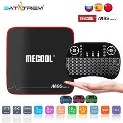 SATXTREM MECOOL M8S PRO W Android 7.1 TV Box Amlogic S905W Quad Core 2GB RAM DDR4 16GB Smart TV Box WiFi 4K H.265 Set Top Box