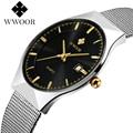 Brand Women's watchesquartz-watch steel mesh strap quartz watch women ultra thin dial clock relogio feminino