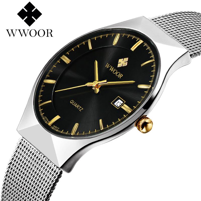 Prix pour Marque Femmes watchesquartz-montre en acier de maille bracelet à quartz montre femmes ultra mince cadran horloge relogio feminino