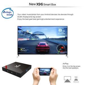 Image 4 - X96 X96W أندرويد 7.1 صندوق التلفزيون واي فاي S905W مربع التلفزيون الذكية أندرويد 2GB ram رباعية النواة فك التشفير tvbox 4K مشغل الوسائط X 96 فك التشفير