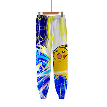 Hot Selling Casual Pants Men/Women Pokemon 3D Printing Fashion Pikachu Digital Color Full Length Boy Girl