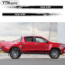 hilux revo racing side stripe graphic Vinyl sticker for TOYOTA HILUX decals free shipping 4 pc hilux side stripe graphic vinyl sticker for toyota hilux decals