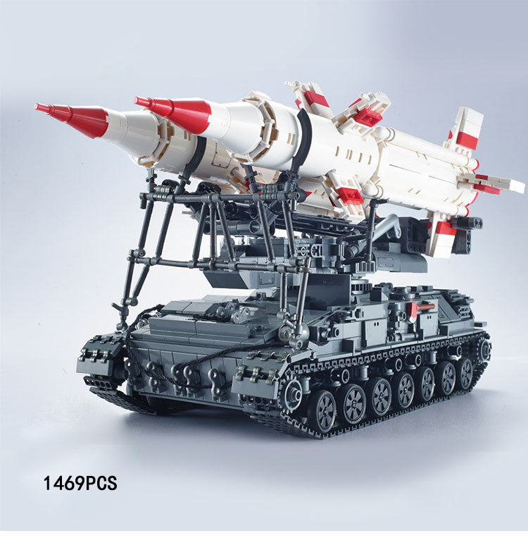 Modern military simulation scale SA-4 GANEF cruise missile armored tank moc building block model brick toys collection for adult hot modern military t92 tank moc building block model bricks toys collection for adult children gifts