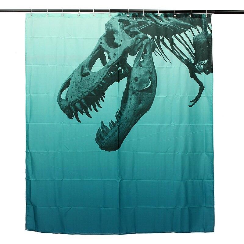 Custom Dinosaur Shower Curtain Bath Curtain Waterproof Fabric Bathroom Kids  Gift(  Kids Shower Curtain
