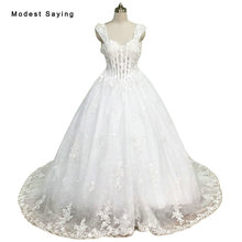 Real Ivory Sexy Sheer Ball Gown Sweetheart Flower Beaded Lace Wedding Dresses 2017 Formal Women Bridal Gowns Custom Made XW3