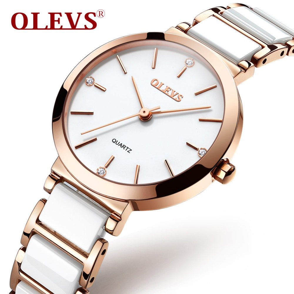 OLEVS Ultra Thin Women Quartz Watch Small Face Waterproof