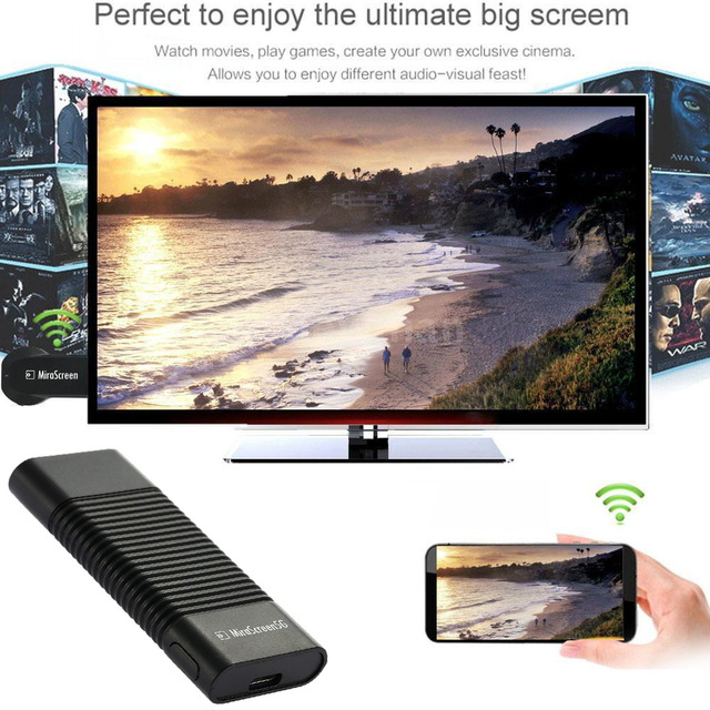 5G Wifi מתאם HDMI תצוגת Dongle HDTV מקל טלפון לטלוויזיה עבור iPhone 5 6 7 8 X XS MAX XR Xiaomi 9 Huawei P30 סמסונג LG אנדרואיד