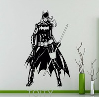Batgirl Poster Cool Black Decal Vinyl Stickers Batwoman Comics Home Interior Teen Room Design Wall Art