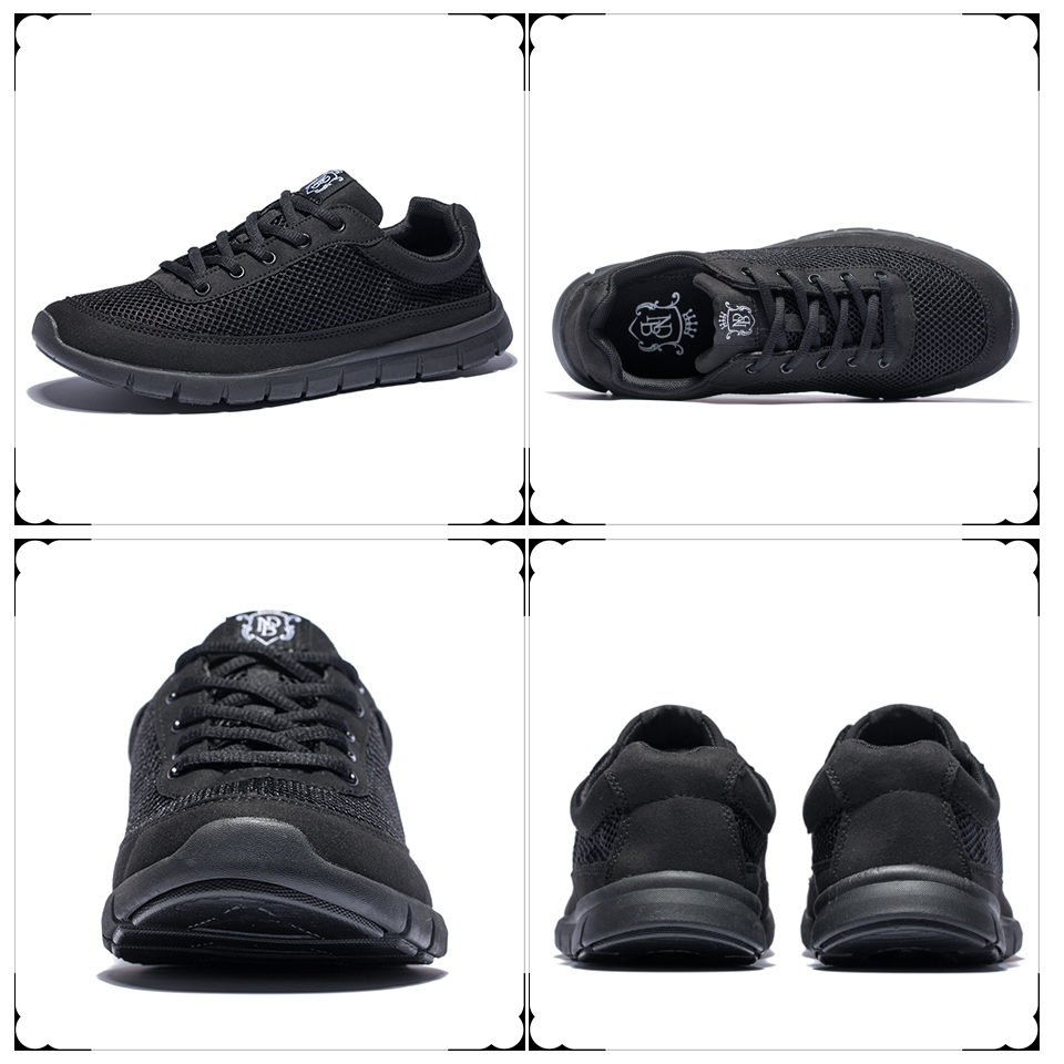 Brand Shoes Men Casual Breathable Lace-Up Walking Footwear Lightweight Comfortable Mesh Sneakers Men Shoes Black Plus Size 49 50 7
