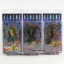 NECA Aliens Espaço Cobra Alienígena/Escorpião Alienígena/Marine Apone AVP PVC Action Figure Collectible Modelo Toy(China)