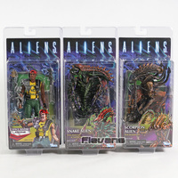 NECA Aliens Space Snake Alien / Scorpion Alien / Marine Apone PVC Action Figure Collectible Model AVP Toy