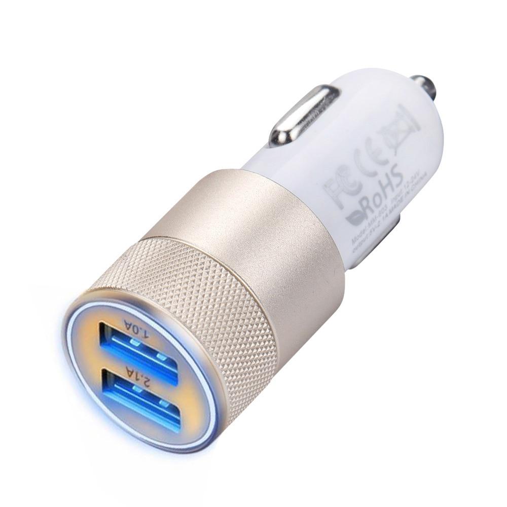 2017 2.1A 24W 2 Ports Cargador USB Quick Car Battery charger for IOS Android Mobile phone Charging Adapter Carregador de carro