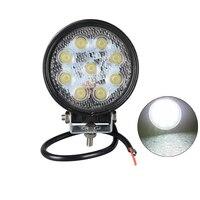Led car work light 12v Spot beam 2PCS 4 inch led light bar 12v 24v 27w led work light Offroad Driving Light