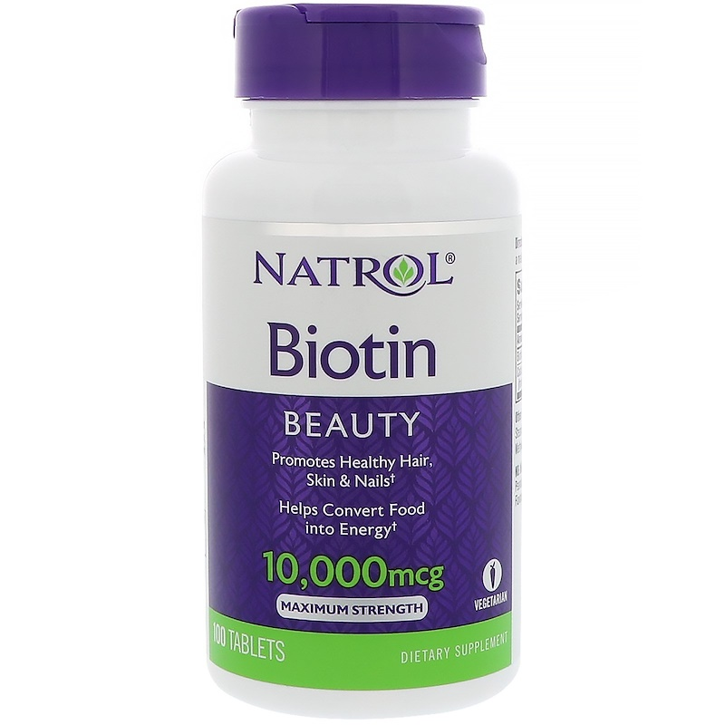 Natrol Biotin -- 10000 Mcg Biotina Cabello Biotin For Hair Biotine 100 Tablets