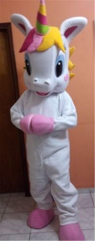 rainbow Pony magic Adult Mascot Costume Horse mascot costume for Halloween Purim Party Clothing Fancy Dress