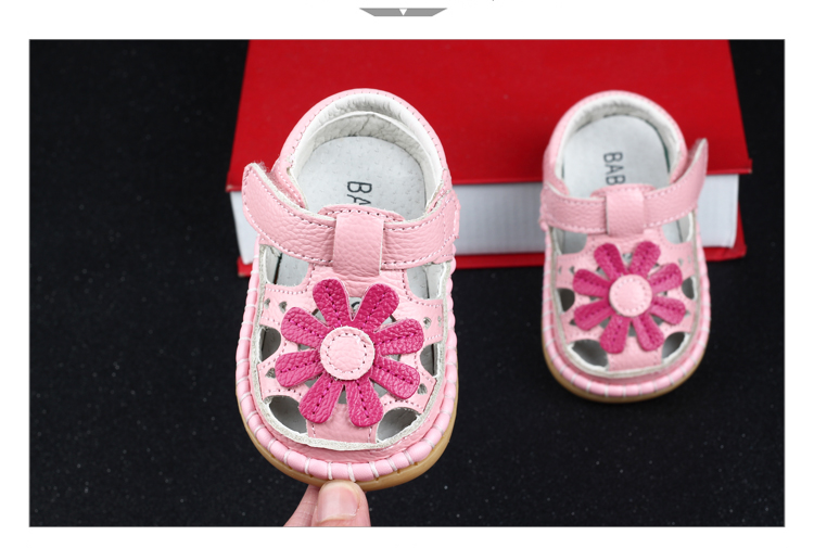 2017 Summer Cute Flower Baby Girls Sandals Princess Shoes Soft Soles Children s Shoes