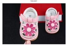 2017 D'été Mignon Fleur Bébé Filles Sandales Princesse Shoes 0-1-2 Ans Semelles Souples Enfants de Shoes