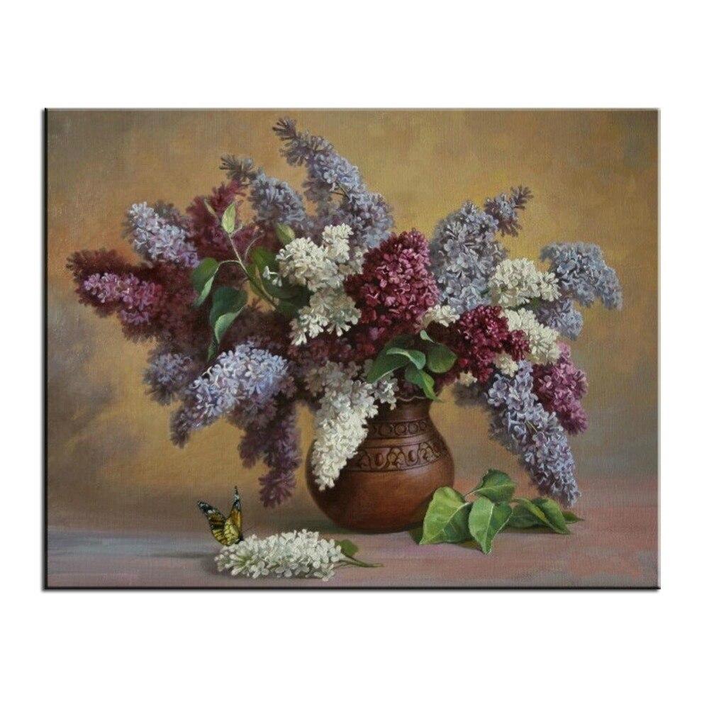 Online get cheap flower digital art for Diy flower canvas wall art