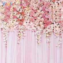 Yeele Wedding Photocall Wallpaper Nice Flowers Pink Photography Backdrops Personalized Photographic Backgrounds For Photo Studio