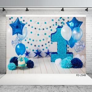 Image 2 - Ballon Ster Decoraties Vinyl Doek Fotografische Achtergrond Voor Fotostudio Kinderen Baby Verjaardagsfeestje Achtergrond Fotostudio