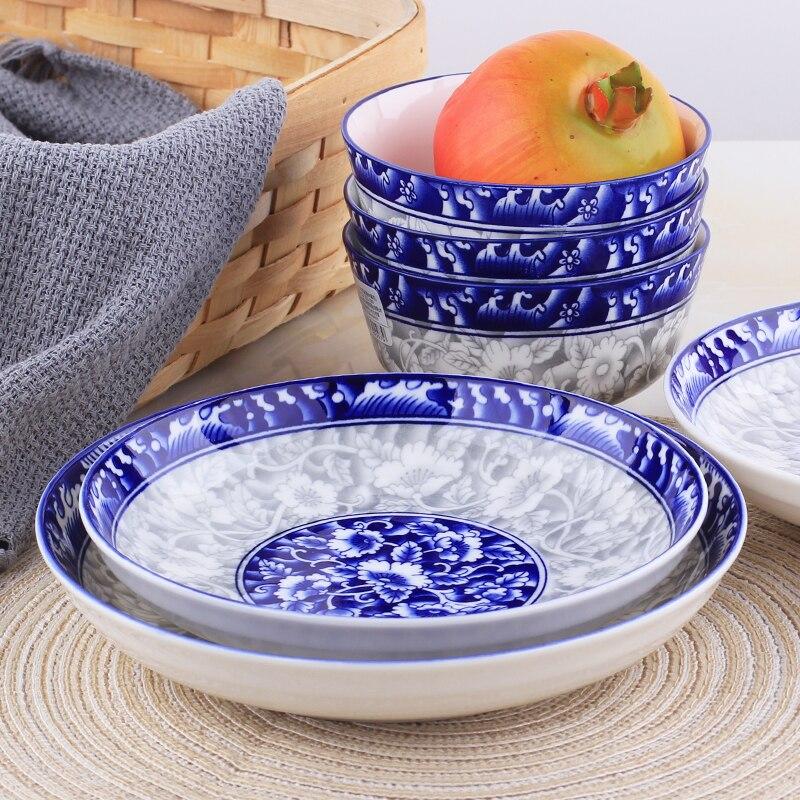 Couverts créatifs japonais céramique   Plat de maison, assiette de maison glaçure
