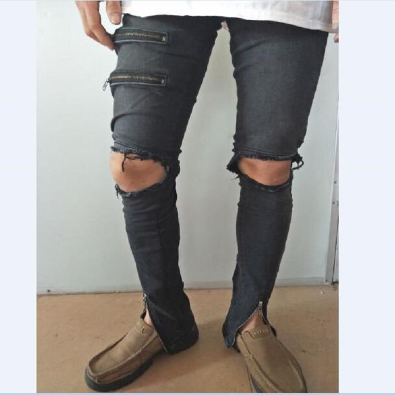 Online Get Cheap Ripped Skinny Jeans Black -Aliexpress.com ...