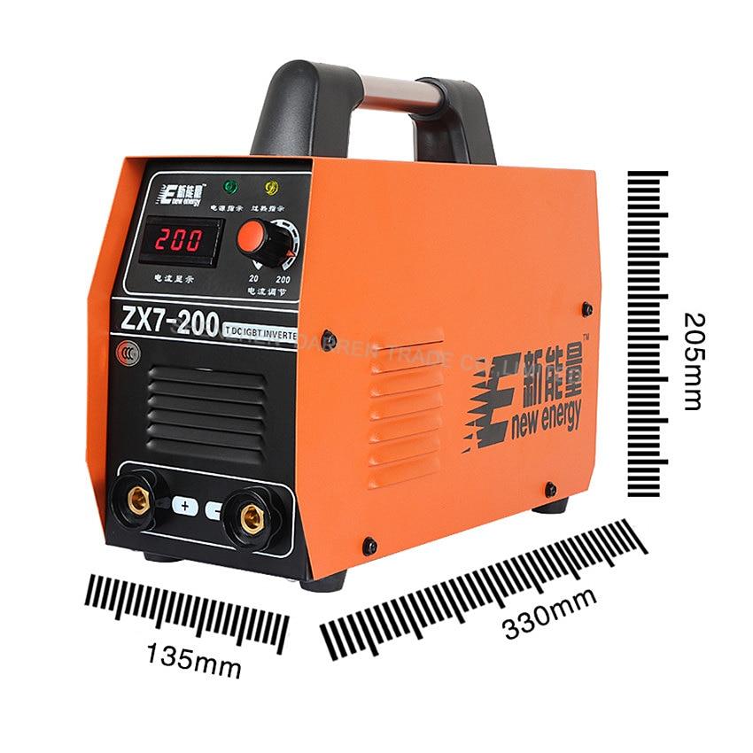 1pc DC Digital Inverter Welding Machine MMA ARC Welder Zx7-200 Welder  220V Whole Copper Core Portable  Upgrade 6200w