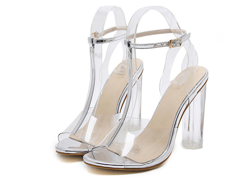 HTB1zjYiXkvoK1RjSZFwq6AiCFXa9 Eilyken 2019 PVC Jelly Sandals Crystal Leopard Open Toed High Heels Women Transparent Heel Sandals Slippers Discount Pumps 11CM