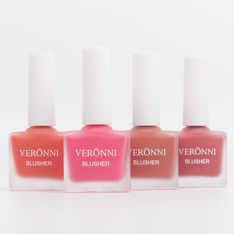 VERONNI Makeup Liquid Blusher 4 Color Natural Sleek Silky Blush Contour Rouge Make Up Peach Cheek Blush Face Cosmetics in Blush from Beauty Health