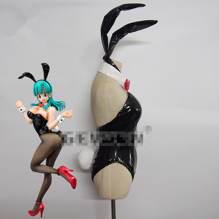 Bulma Dragon Ball Anime Cosplay Bulma bunny girl cosplay costume sexy costume can custom made/size-in Game Costumes from Novelty & Special Use    2