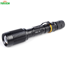 5000 Lumens CREE XML T6 Torch light Tactical lanterna Zoom waterproof Led Flashlight led lamp For 2×18650 Battery Camping