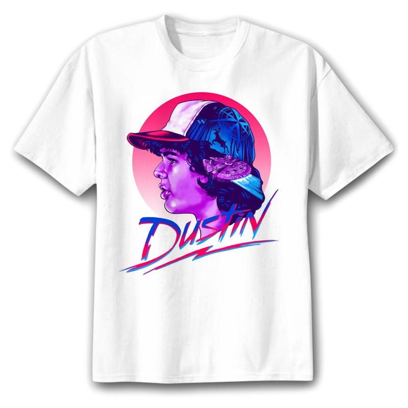 BTFCL Camisetas Masculina Stranger Things T Shirt Eleven Dustin Men Tshirt Hawkins Harajuku Anime Shirt CottonTop Tees Homme in T Shirts from Men 39 s Clothing